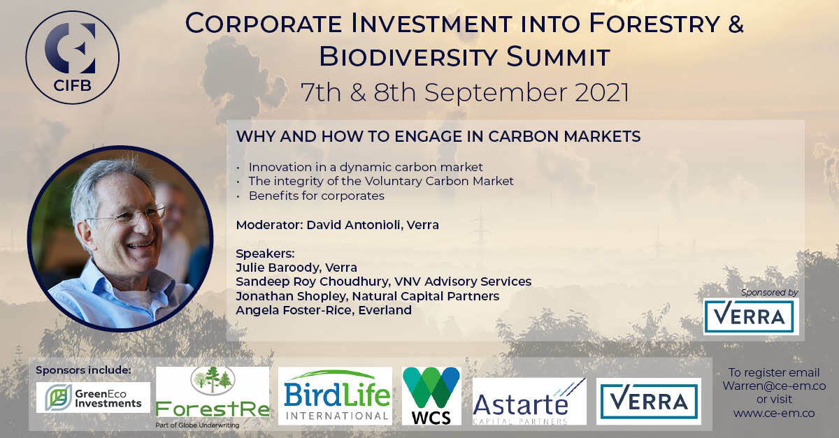 Corporate Investments into Forestry and Biodiversity Summit